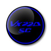 VX220 SC 3D Domed Gel Wheel Centre Badges Stickers Decals Set of 4
