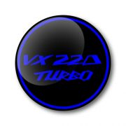 VX220 Turbo 3D Domed Gel Wheel Centre Badges Stickers Decals Set of 4